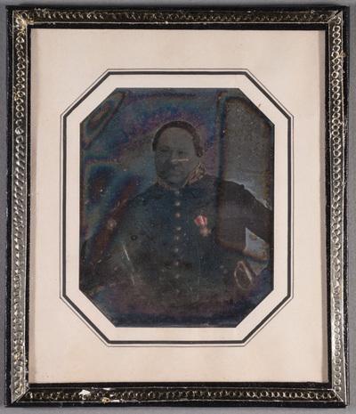 Portrait of Major of Ekenäs, Karl Magnus Kjelllin (20.1.1790-30.3.1866). Partly hand coloured.