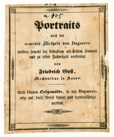 Etikett von Friedrich Gysi