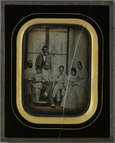 Portrait de groupe, famille Eynard et amis