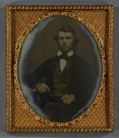 A daguerreotype in a Union case / Plate and case may not belong together