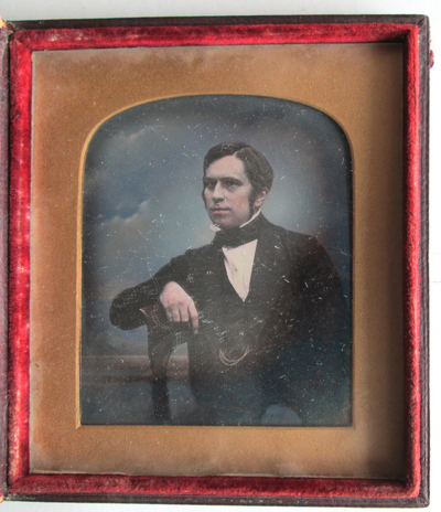 The sitter is possibly related to Katherine Smee (see EP295) as it is part of a small group of daguerreotypes and is in an identical case to that portrait. It is also possible that this could be the artist William Howes Hunt, see  http://www.norfolk.gov.uk/view/ncc117702