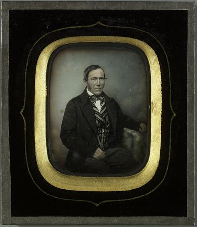 Portrait d'homme. Coloriage sur le visage.