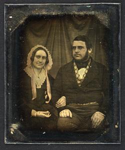 Portræt af Amine Victorine Frantzine Mørk og Jochum Jacobsen Mørk