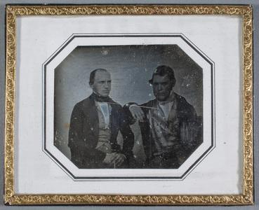 Portrait of Handlanden Nils Johan Lundahl (Visby 2.4.1817-Åbo 24.11.1899) and Handlanden Abraham Kingelin -Åbo 12.6.1859).