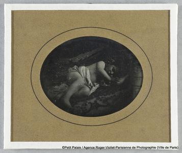 Thérèse Riesener, enfant, couverte d'un linge