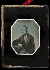 Portrait of an unknown man (around 1850).