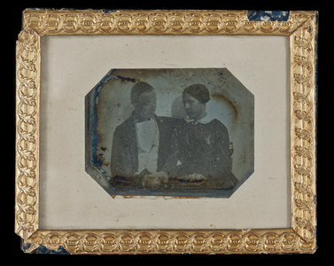 Portrait of an unknown couple (around 1850).