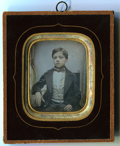 Portrait of young boy named Alessandro Antonelli (1843- ? 1870)