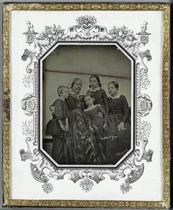 Rosa Säve, b. Snellman  (Åbo 26.3. 1814 - 1874) with her four children, Gunnar, Inga, Thilda and Mirjam. Rosa Säve was a relative of C.G. Mannerheim.