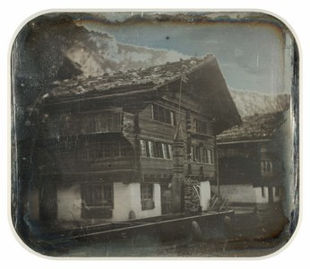 Image traitée (nettoyage, encadrement, numérisation) par l'ISCP (Institut suisse pour la conservation de la photographie, Neuchâtel) dans le cadre d'un programme Memoriav (2003-2006).