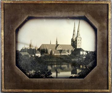 Dom-Ansicht und Südseite vom Mühlentor, Lübeck