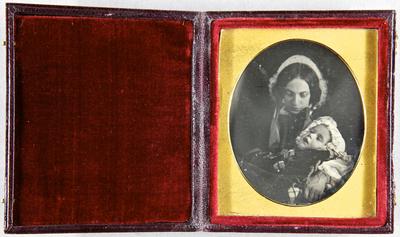 Die Aufnahme entstand mit 1951/4d. Zum Nachlass der Familie Avé Lattement sind weitere Daguerreotypie vorhanden. Vgl. 1951/4a bis /4l.