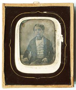 Portrait of boy named Giovanni Antonelli (1841-1898)