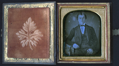Daguerreotype is protected in a book-like case