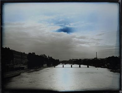 Seine, Louvre, Cloud, Bank