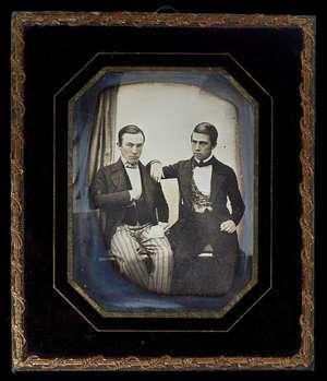 Dobbeltportræt af Frederik og Eduard Larsen