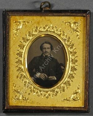 Halbportrait von Bernhard Graf von Wartensleben, sitzend.