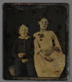 Portrait of a girl and a boy