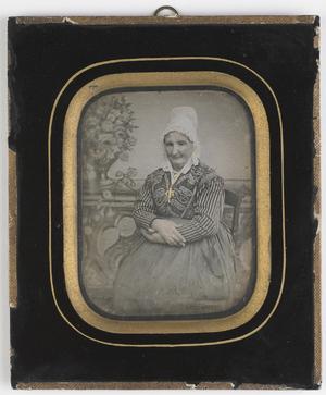 colored portrait of a woman