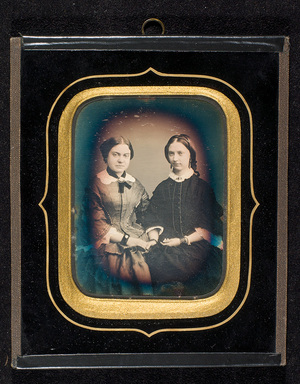 Portrait of two young women.