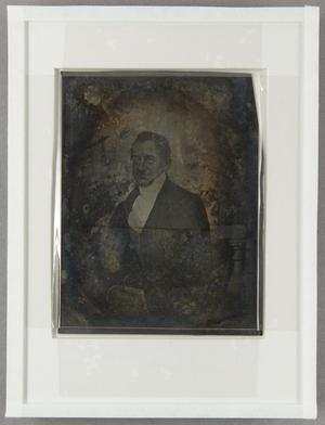 Die Platte ist neu verglast. Die Maße beziehen sich auf die jetzige Aufmachung. Jacob Behrens, Kaufmann und Senator (1791-1852)