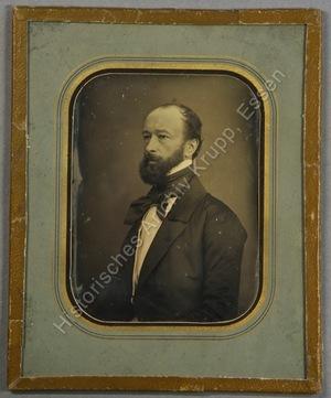 Portrait von Alfred Krupp mit Vollbart, Halbfigur