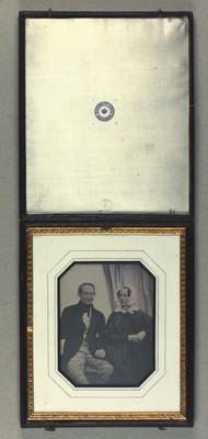 Dobbeltportræt af C. J. Kühl og hustru
