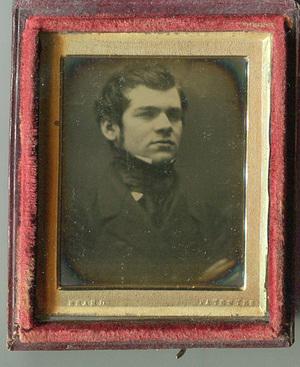 Beard Patentee' – young man wearing a high stock.