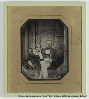 Portrait d'Aline Musset, épouse Bally et de son mari Jean Bally