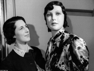 Mary Allen with Tilley the Mannequin