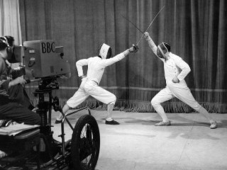 Fencing Demonstration in the Studio 16/11/1946