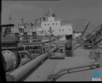 Εγκαίνια σκάφους-διυλιστηρίου και πλωτής δεξαμενής ανοικτής θαλάσσης παρουσία του Αντιπροέδρου της Κυβέρνησης Νικολάου Μακαρέζου στη Δραπετσώνα