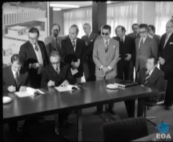 Υπογραφή ελληνογιουγκοσλαβικού συμφώνου παραχώρησης τεχνικών γνώσεων της χημικής βιομηχανίας ΒΙΟΡΥΛ για το γιουγκοσλαβικό εργοστάσιο ALKALOID.
