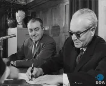 Υπογραφή πράξης δωρεάς ακινήτου από τον γιατρό κ. Ζεκάκο προς το ελληνικό δημόσιο με την παρουσία του Υφυπουργού Οικονομικών Νικήτα Σιώρη στην Αθήνα