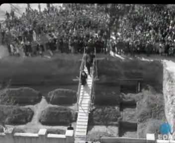 Θεμελίωση νέου κτηρίου των 14ου και 15ου Δημοτικών Σχολείων Θεσσαλονίκης και εγκαίνια του Γυμνασίου Καλαμαριάς από τον Υφυπουργό Εθνικής Παιδείας και Θρησκευμάτων Νικήτα Σιώρη