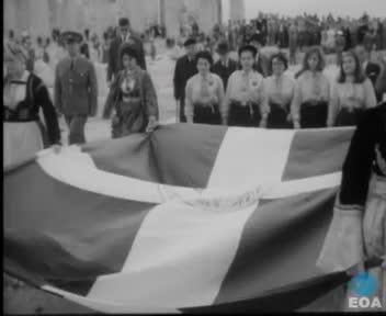 Εορτασμός της 19ης επετείου της απελευθέρωσης της Αθήνας από τις γερμανικές δυνάμεις κατοχής.