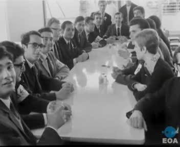 Εγκαίνια νέου εστιατορίου της Φοιτητικής Λέσχης Αθηνών από τον Αντιπρόεδρο της Κυβέρνησης Στυλιανό Παττακό