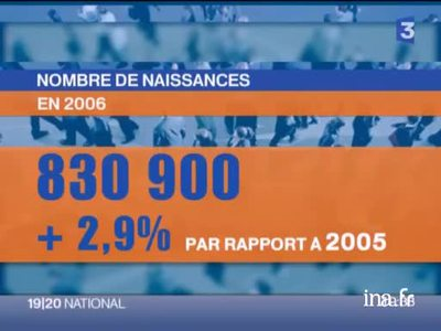 The increase in the French birthrate in 2006