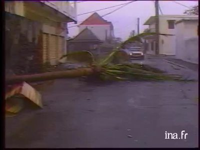 Hurricane on Reunion Island