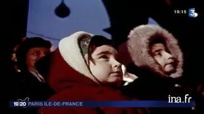 The Christmas illuminations in Paris