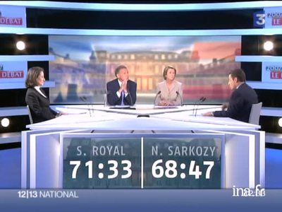 Debate between Ségolène Royal and Nicolas Sarkozy before the second round of the 2007 presidential election