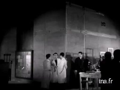President Auriol inaugurates the first French nuclear reactor Zoé on 15 December 1948