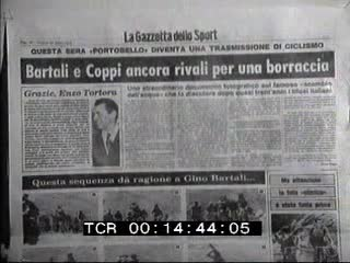 Milan: Bartali and Coppi footages