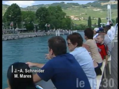EVENING NEWS: LAC GENEVA, NATIONAL ANTHEM SUNG BY A CHOIR ON CGN BOATS FOR THE FIRST OF AUGUST CELEBRATION