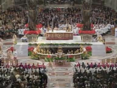 Christmas mass from Rome
