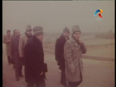 The visit of Nicolae Ceausescu at the Civic Center