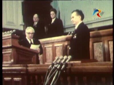 Nicolae Ceausescu President of the Socialist Republic of Romania