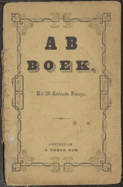 AB boek: met 26 gekleurde prentjes