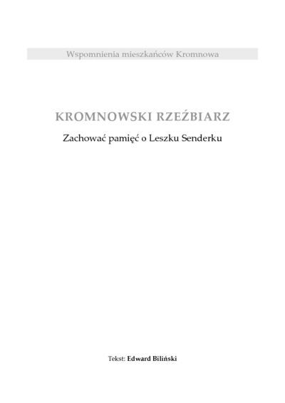 Kromnowski rzeźbiarz [Dokument elektroniczny]