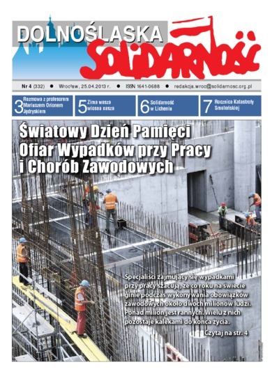 Dolnośląska Solidarność, 2013, nr 4 (332)